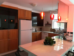MONTREAL-ROXBORO-RENOVATED BUNGALOW, ALL INCLUDED & FURNISHED.