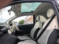 2014 Fiat 500 1.2 Lounge Dualogic (s/s) 3dr Petrol black Semi Auto