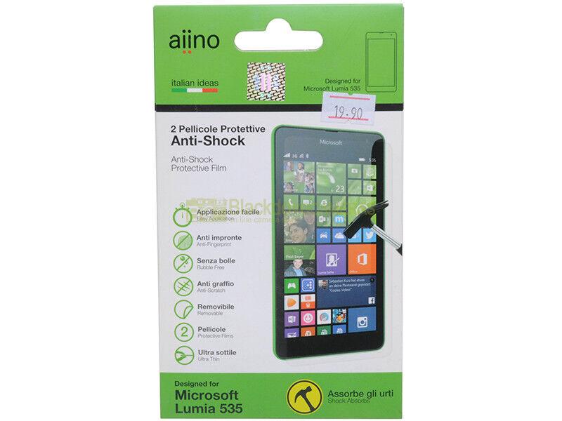Aiino N° 2 pellicole protettive anti shock per Microsoft Lumia 535.