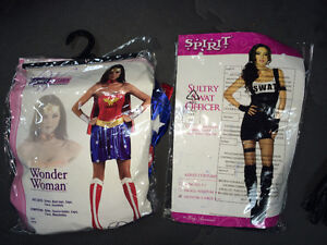 Superwoman/Superman and Swat Woman Costumes