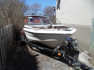 Boat and trailer for sale Pierrefonds