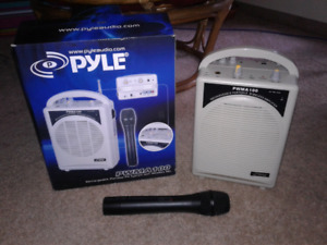 Pyle Rechargeable Portable PA System w/ wireless mic.