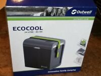 Eco cool outwell 24 litre ac/dc camping cool box .used once