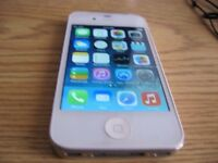 iPhone 4S 16gig blanc  unlocked deverouille excellent etat