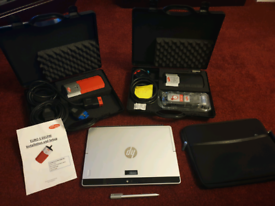 Delphi diagnostic scanner and euro 5 with hp laptop / tablet.