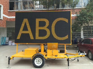 6ft x 11ft TRAILER MOUNTED ELECTRONIC SIGN