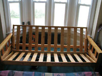 Futon - solid wood, double bed