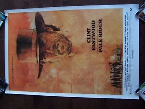 CLINT EASTWOOD  PALE RIDER original movie theater poster