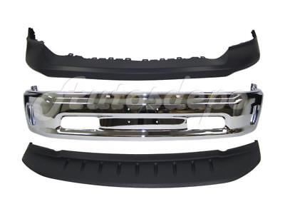 FRONT BUMPER CAP FACE BAR CHROME AIR DAM W/FOG HOLE FOR 2013-2017 DODGE RAM 1500