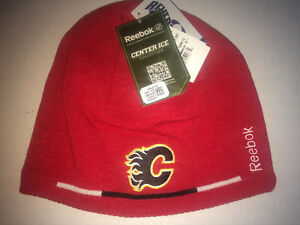 CALGARY FLAMES - REEBOK BEANIE WINTER HAT - NEW!!