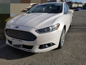 2013 Ford Fusion SE EcoBoost Luxury & Tech Package--Pearl White