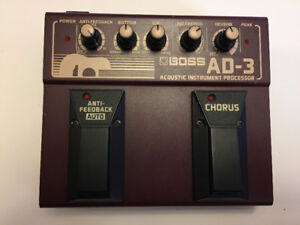 BOSS AD-3 ACOUSTIC GUITAR PEDAL / PREAMP