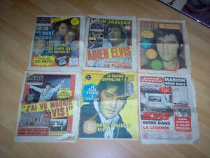 6 journaux sur la mort d'Elvis Gatineau Ottawa / Gatineau Area image 1