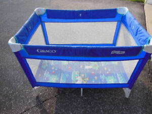 Playpen with Outdoor Material - in great condition!