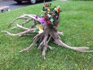 Large decorative garden stump - Souche de jardin décorative