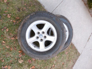 Set of winter tires on rims