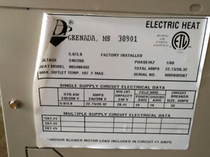 Grenada electric air handler furnace