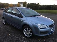 2006 06 Ford Focus 1.6 Sport Manual 5 Dr in Blue metallic. Only 32K miles