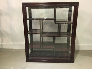 Rosewood High Quality Display Cabinet - $888 (4373 Main Street,