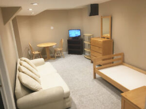 All-inclusive Furnished Basement Apartment