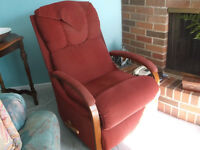 filing cabinets, L shaped desk,recliner,wrought iron dinette,+++