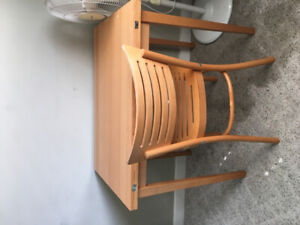 Fold out table/desk and chair