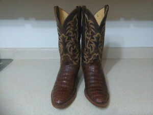 Men's Justin Caiman Western boots For sale