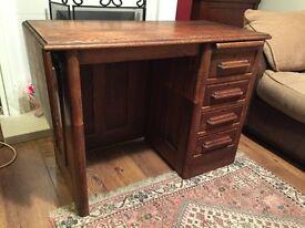 Gorgeous solid oak vintage teachers pedestal desk