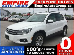 2013 VOLKSWAGEN TIGUAN TSI * AWD * LEATHER * SUNROOF * BLUETOOTH