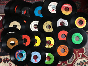 Lot of 200 Vinyl 45RPM RECORDS $25.00 Or Best Offer