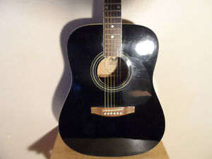 Acoustic/Electric Dreadnought Guitar W/ Case