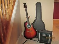 Ovation Mint Accoustic-Elect Guitar & Accessories Just Appraised