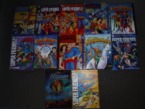 Kids & Family Huge lot of 54 DVD's 12 DC Comic Super Friends