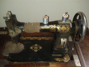 Vintage White Sewing Machine