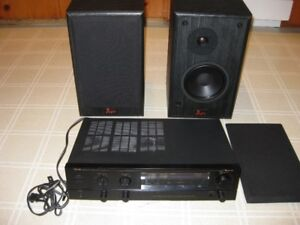 NAKAMICHI RECEIVER AND AUDIOSPHERE PROFILE SPEAKERS