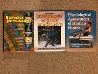 3 A4 size hard back University/College/A Level Sport Science Study Textbooks