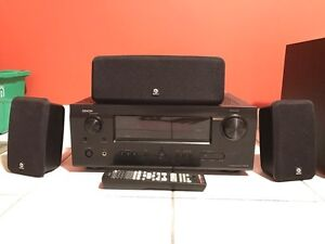 Denon AVR-591 Home Theatre Receiver + Speakers / Subwoofer Windsor Region Ontario image 3
