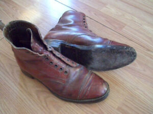 Vintage WW11  Canadian Military Officer Dress Boots