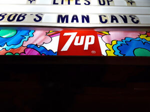 7UP 1960's menu board- like new condition
