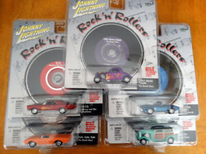 Johnny Lightning Rock 'n' Rollers Die-Cast cars with Music CD