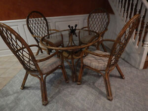 Rattan Dining Set - Table and 4 Chairs