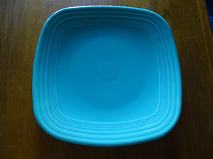 2 Turquoise Square FIESTAWARE Plates Platters