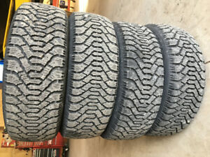 Goodyear nortic 195/55R15 tires on 4 bolt steel rims. Nice shape