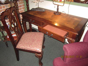 Reproduction Map Desk and chair