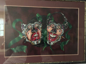 Theater mask painting