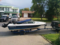 18 foot Cadorette bowrider with 90hp Mercury outboard