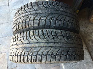 2 PNEUS D'HIVER / 2 WINTER TIRES  225/60/16 AEOLUS ICE CHALLENGE