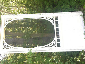 Victorian White Metal Screen Door