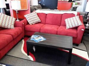 *** USED *** ASHLEY HANNIN SPICE SOFA/LOVE   S/N:51197485   #STORE576