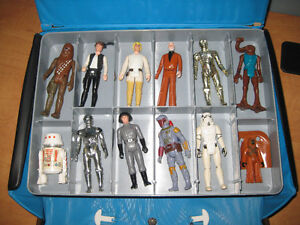 1977 Star Wars Kenner Mini Action Figures & Collectible Case